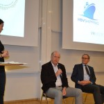 Knut Arnesen and Felix Tschudi during the panel discussion