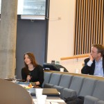 Marija Jokubaviciute from Global Maritime Knowledge Hub asking questions during the panel discussion